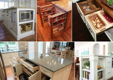 39 Clever Kitchen Island Designs with Storage fi
