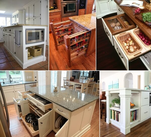 clever storage ideas for small kitchens 39 clever kitchen island designs with storage 26533