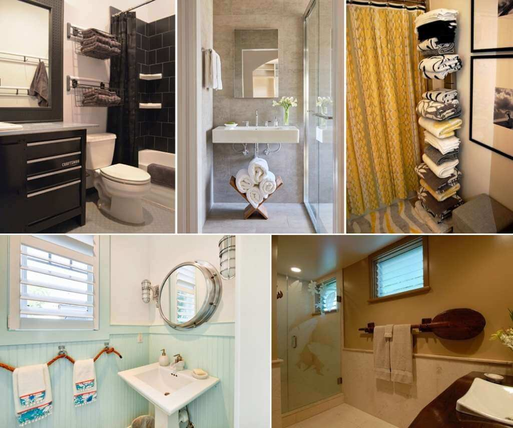 Clever ways to store towels in a bathroom - Ways to decorate bathroom ...