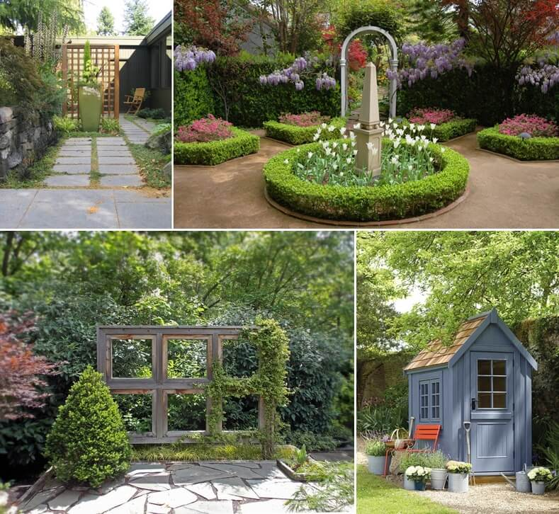 Interesting ways to create a garden focal point for Landscaping your garden
