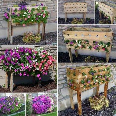 Make a Cascading Flower Planter Box from Pallets fi