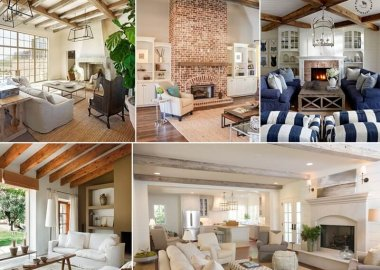 These Living Rooms with Exposed Wooden Beams are Divine fi
