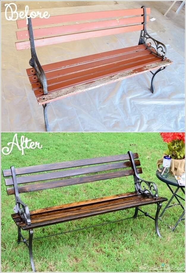 Garden Furniture Stain 10 garden furniture makeover ideas you will admire