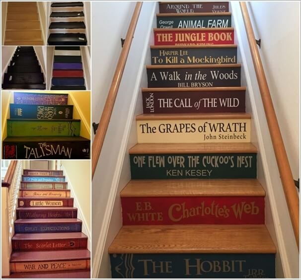 58 Cool Ideas For Decorating Stair Risers: 10 Super Cool Ways To Paint Your Stairs