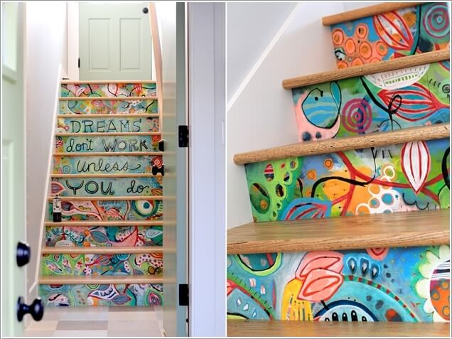 10 super cool ways to paint your stairs - Cool designs to paint ...