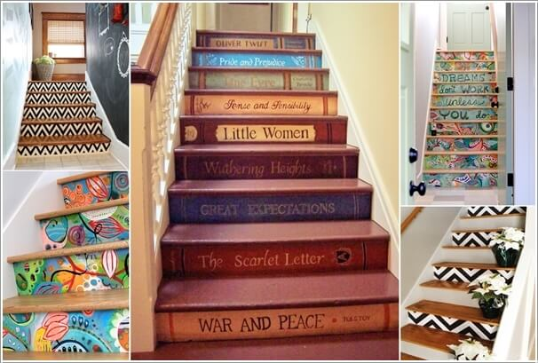 10 super cool ways to paint your stairs - Things to put on a wall ...