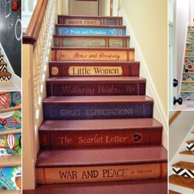 10 Super Cool Ways to Paint Your Stairs fi