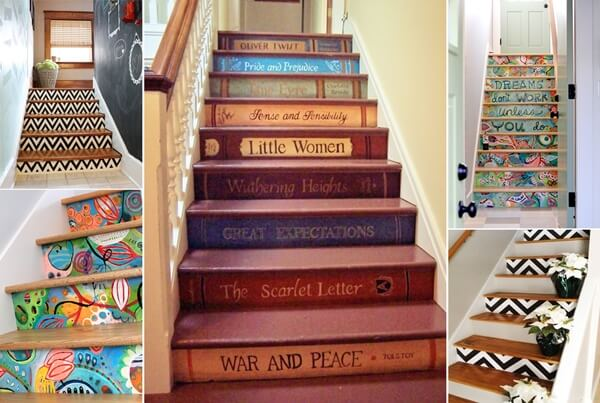 10 super cool ways to paint your stairs - Cool stuff to put in your room ...