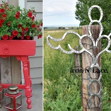 10 Wonderful Garden Accents Created from Recycled Materials fi
