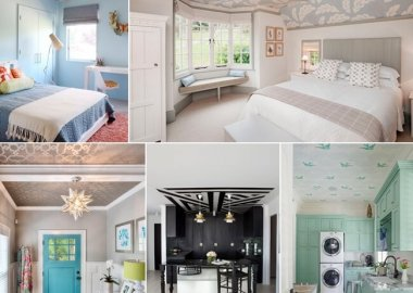 11 Reasons to Use Wallpaper on a Ceiling fi