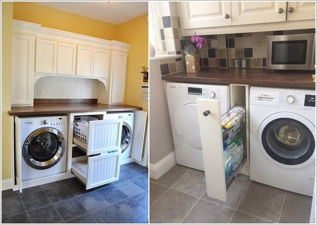Hack The Space Between The Washer And Dryer And Fix Deep Drawers Or A  Narrow Rack Depending Upon The Width Of Available Space