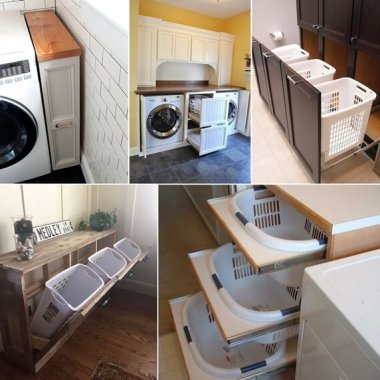 13 Clever Pull Out Laundry Storage and Organization Ideas fi