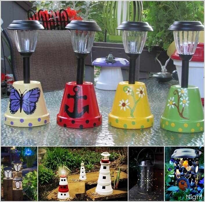 13 diy solar lamp ideas for your garden mozeypictures Images