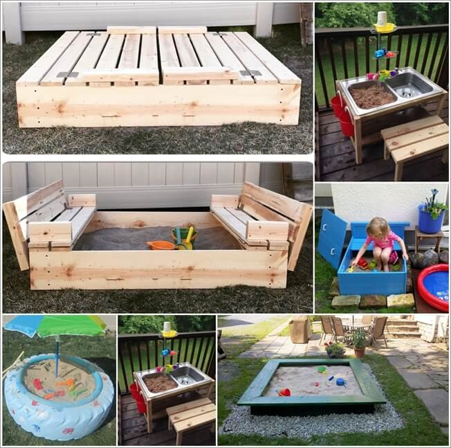 35 DIY Sand Boxes Ideas Your Kids Will Love Big