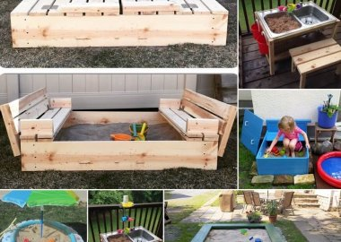 35 Cool DIY Sand Box Ideas for Your Kiddos fi