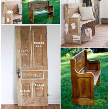 An Old Door Got a New Life as a Bench fi