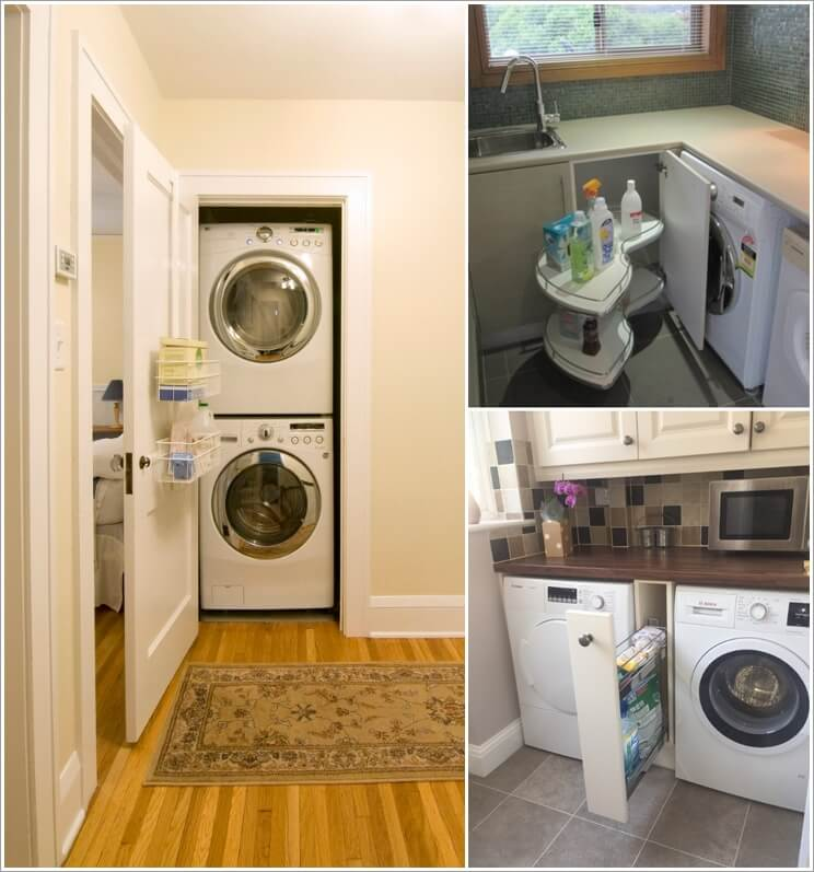 Clever solutions for laundry supplies storage Storage solutions for small laundry rooms