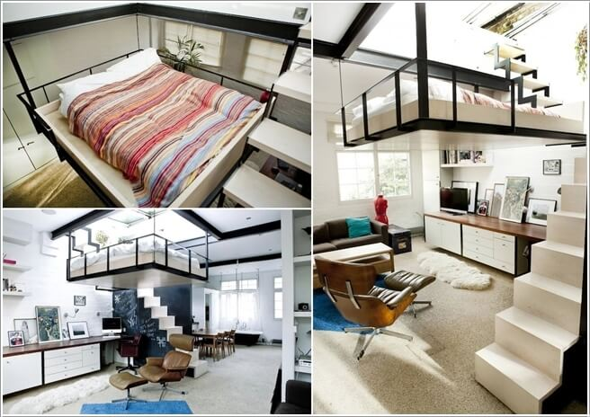 3. Build A Loft Bed So That You Can Have More Free Floor Space