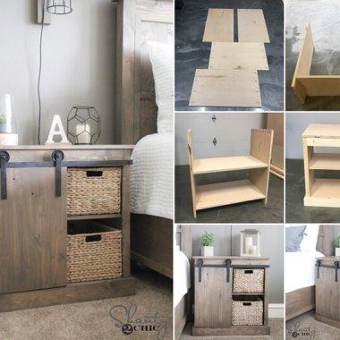 Make This Beautiful Barn Door Nightstand for Your Bedroom fi