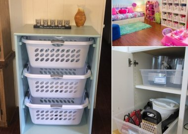 Organize Your Home with Plastic Bins and Baskets fi