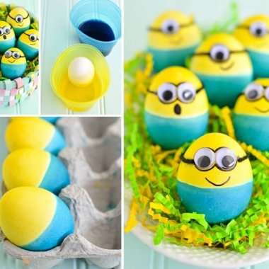 These Dyed Minion Easter Eggs are So Cute fi