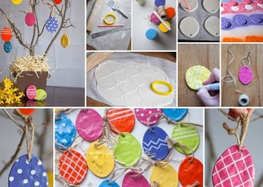 These Salt Dough Easter Egg Ornaments Are So Adorable fi