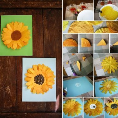Try These Cheerful Coffee Filter Sunflowers fi