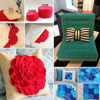 10 Chic DIY Decorative Pillow Ideas fi