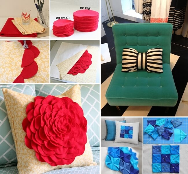 How To Make A Small Decorative Pillow : 10 Chic DIY Decorative Pillow Ideas