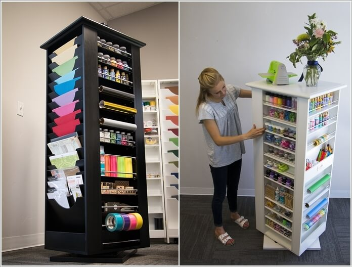 A Tower That Is An Ultimate Solution For Craft Supplies And Will Keep Your  Craft Studio Free Of Clutter