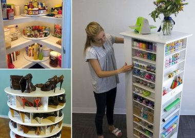 10 Clever Rotating Storage Ideas That Will Save Space fi