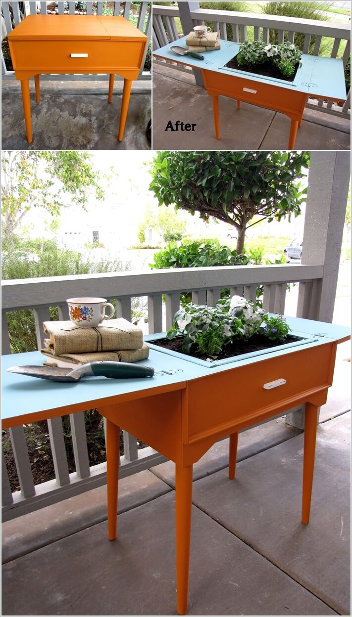 10 clever ways to recycle an antique sewing table - Four ways to repurpose an old sewing machine ...