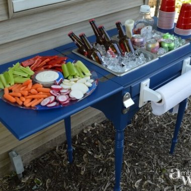 10 Clever Ways to Recycle an Antique Sewing Table fi