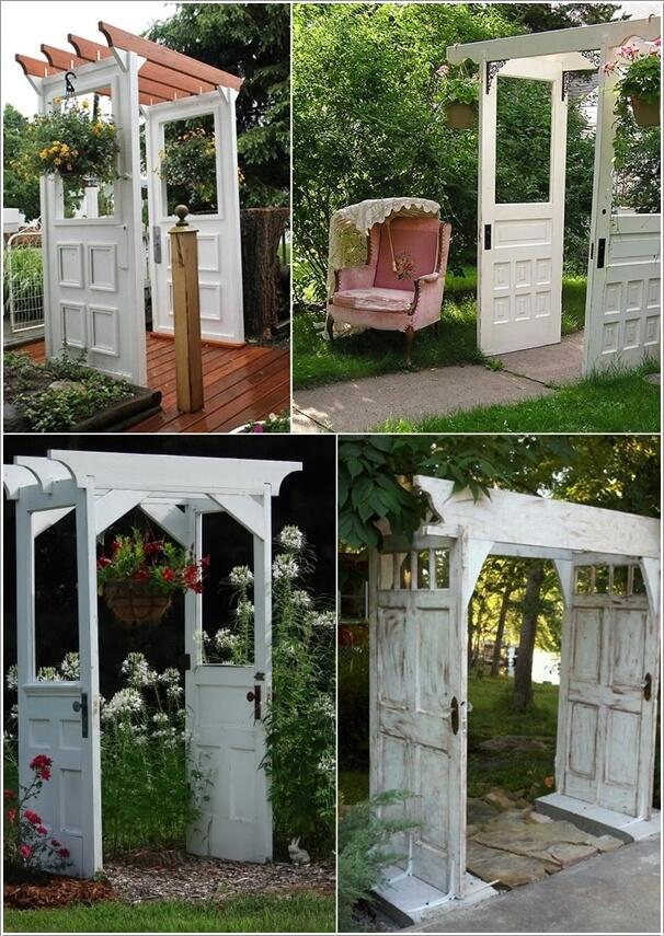 10 Creative Old Door Projects For Your Garden