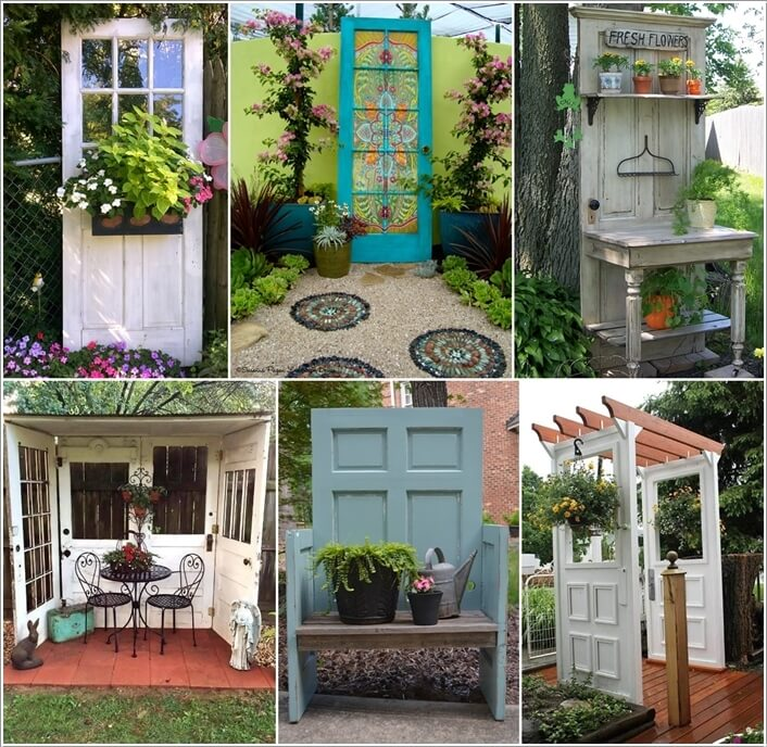 & 10 Creative Old Door Projects for Your Garden
