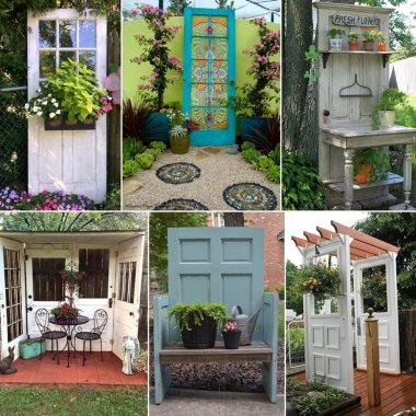 10 Creative Old Door Projects for Your Garden fi