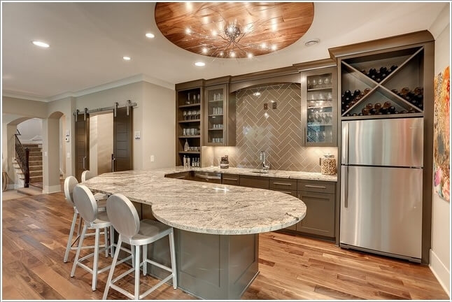 Creative Home Bar image of creative basement for wine storage A Branch Chandelier That Is A Perfect Addition To This Rustic Modern Home Bar