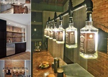 10 Cool and Creative Home Bar Lighting Ideas fi
