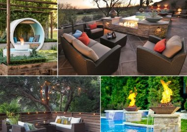 10 Water Feature and Fire Pit Combos You Will Admire fi