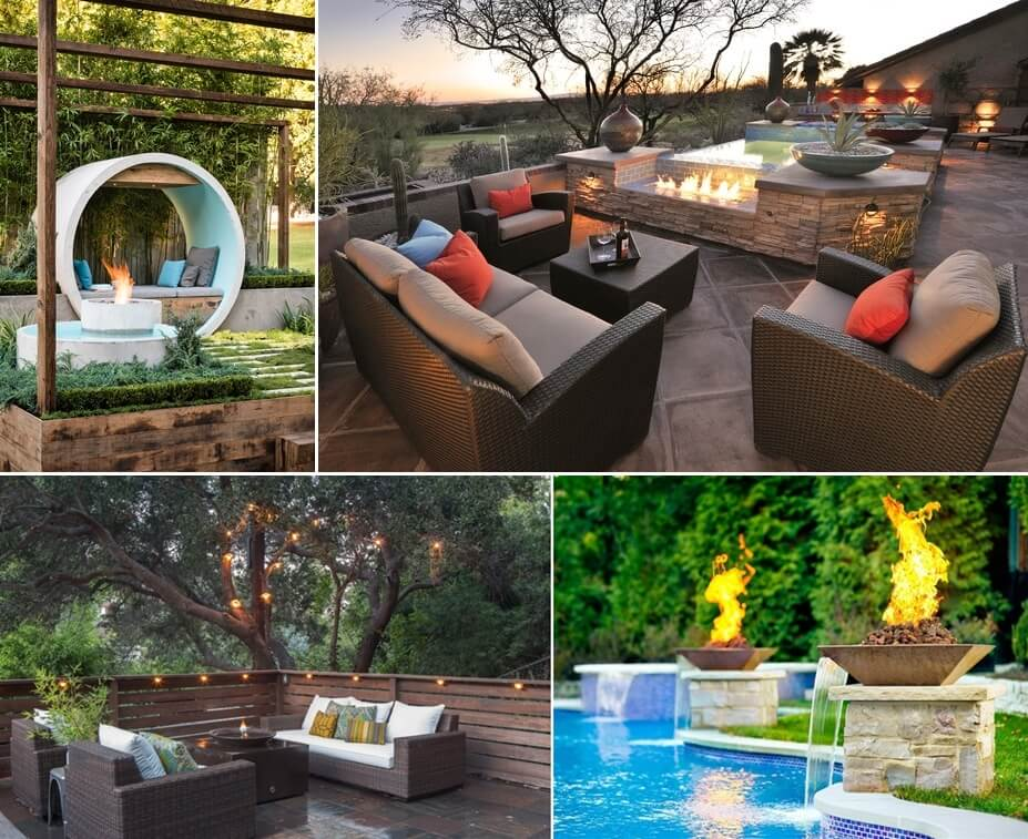 10 Water Feature And Fire Pit Combos