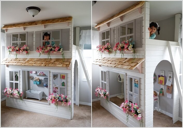An Adorable Dollhouse Inspired Playhouse Perfect For Your Little Doll