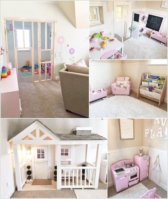 13 cute and creative indoor playhouse ideas for Cute houses inside
