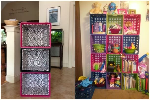plastic milk crate storage cubes crates amazon free clever ideas recycle
