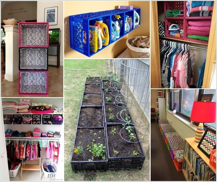 Preferred 15 Clever Ideas to Recycle Plastic Milk Crates CY81