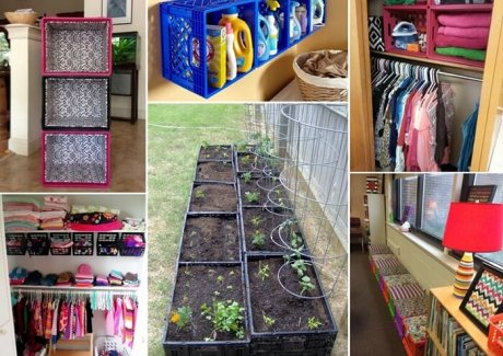 15 Clever Ideas to Recycle Plastic Milk Crates fi