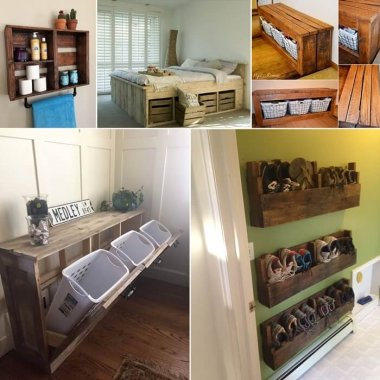 15 Clever Pallet Storage Projects for Your Home fi