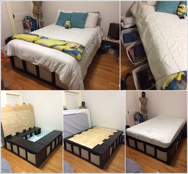 15 clever storage ideas for a small bedroom for Bedroom storage ideas