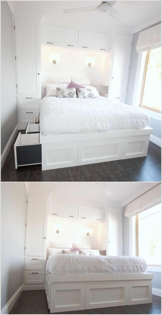 Diy Bedroom Ideas For Small Rooms Design: 15 Clever Storage Ideas For A Small Bedroom