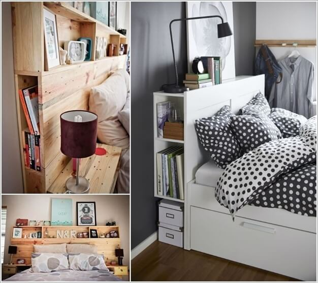 create storage inside your headboard - Clever Storage Ideas For Small Bedrooms