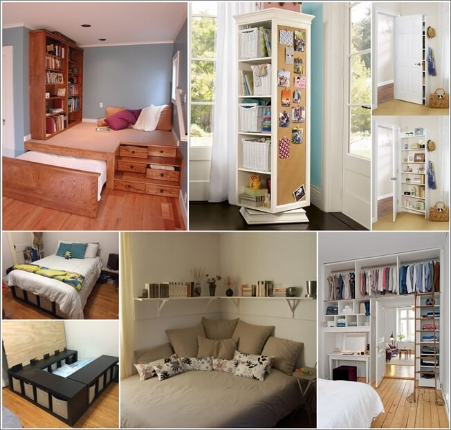 Lovely Ideas For Storage In Small Bedrooms Part - 6: Amazing Interior Design